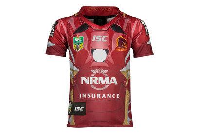 Brisbane Broncos 2017 NRL Kids Iron Man Marvel SS Ltd Edition Rugby Shirt