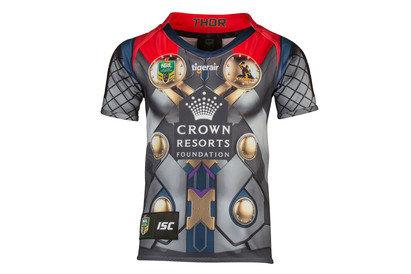 Melbourne Storm 2017 NRL Kids Thor Marvel SS Ltd Edition Rugby Shirt