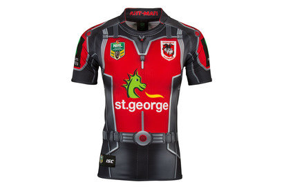 St George Illawarra Dragons 2017 NRL Ant Man Marvel SS Ltd Edition Rugby Shirt