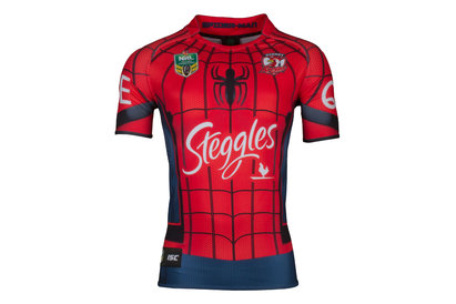 Sydney Roosters 2017 NRL Spiderman Marvel SS Ltd Edition Rugby Shirt