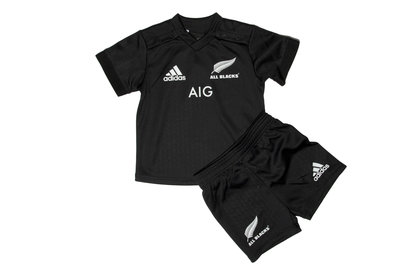 adidas New Zealand All Blacks 2017/18 Home Infant Replica Rugby Kit