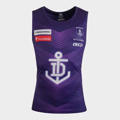 ISC Fremantle Dockers 2020 AFL Players Training Singlet