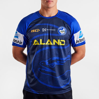 ISC Parramatta Eels NRL 2020 Players Rugby Training T-Shirt