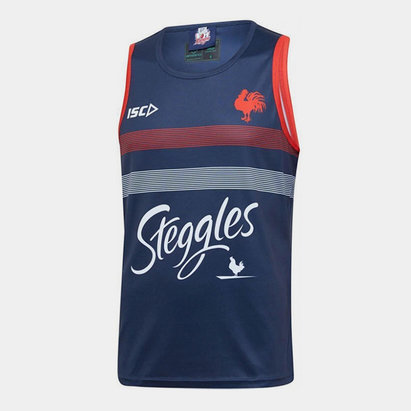 ISC Sydney Roosters NRL 2020 Players Rugby Training Singlet