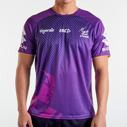 ISC Melbourne Storm NRL 2020 Players Rugby Training T-Shirt