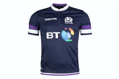 Macron Scotland 2017/18 Home S/S Replica Rugby Shirt