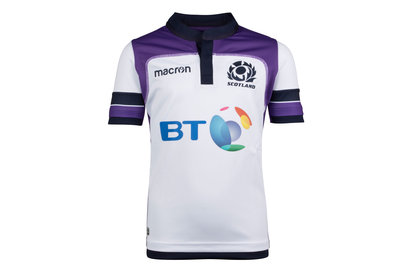 Macron Scotland 2017/18 Alternate Kids S/S Replica Rugby Shirt