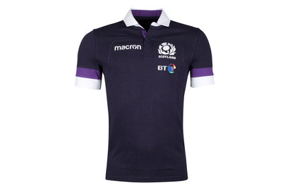 Macron Scotland 2017/18 Home Cotton S/S Replica Rugby Shirt