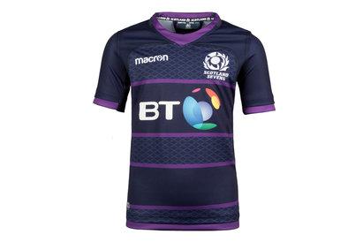 Macron Scotland 7s 2017/18 Home Kids S/S Replica Rugby Shirt