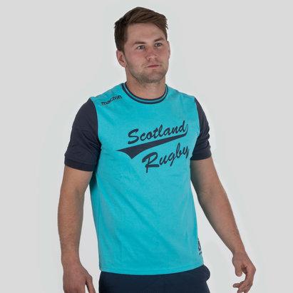 Macron Scotland 2017/18 Travel Leisure Polycotton Rugby T-Shirt