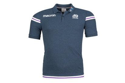 Macron Scotland 2017/18 Polycotton Leisure Rugby Polo Shirt