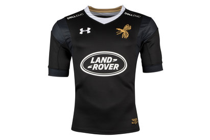 Under Armour Wasps 2017/18 Home S/S Replica Rugby Shirt
