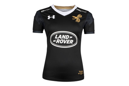 Under Armour Wasps 2017/18 Home Ladies S/S Replica Rugby Shirt