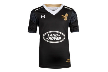 Under Armour Wasps 2017/18 Kids Home Replica Rugby Shirt