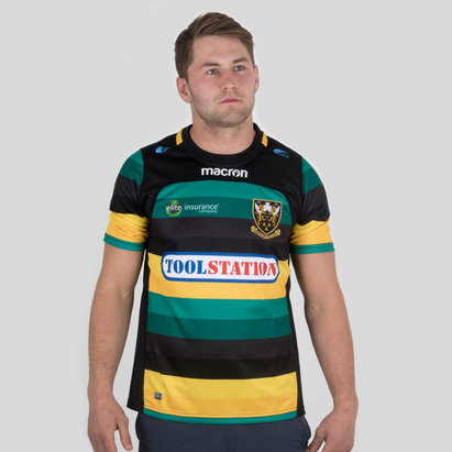 Macron Northampton Saints 2017/18 Home S/S Replica Rugby Shirt