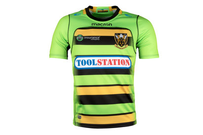 Macron Northampton Saints 2017/18 Alternate Kids S/S Replica Rugby Shirt