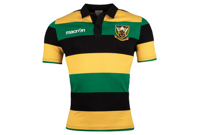Macron Northampton Saints 2017/18 Supporters S/S Cotton Rugby Shirt