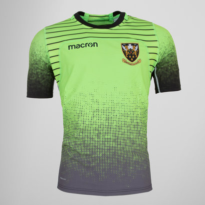 Macron Northampton Saints 2017/18 Players S/S Rugby Training Shirt
