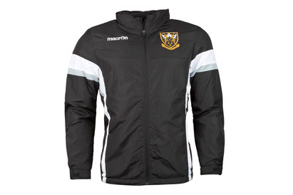 Macron Northampton Saints 2017/18 Full Zip Showerproof Rugby Jacket