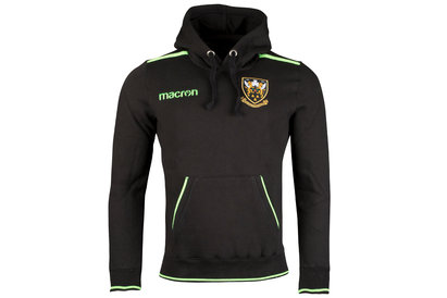 Macron Northampton Saints 2017/18 Cotton Hooded Rugby Sweat
