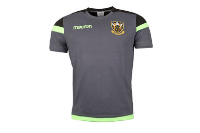 Macron Northampton Saints 2017/18 Official Polycotton Rugby T-Shirt