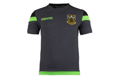Macron Northampton Saints 2017/18 Official Kids Polycotton Rugby T-Shirt