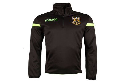 Macron Northampton Saints 2017/18 Players 1/4 Zip Rugby Sweatshirt