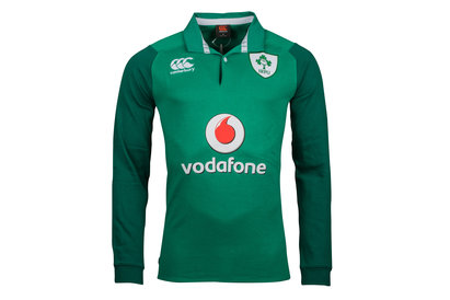 Canterbury Ireland IRFU 2017/18 Home Classic L/S Rugby Shirt