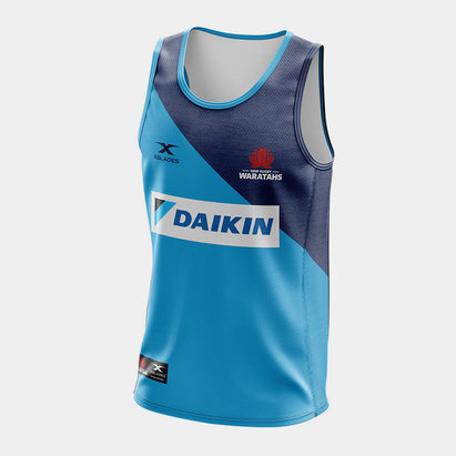 X Blades NSW Waratahs 2020 Players S/S Super Rugby Training Singlet