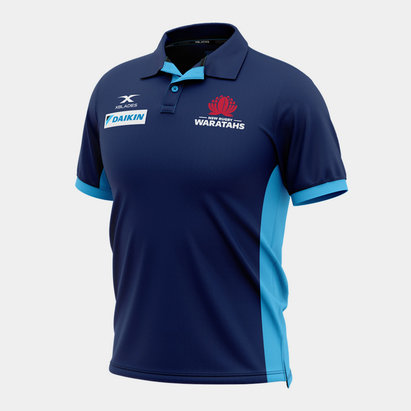 X Blades NSW Waratahs 2020 Players Media Super Rugby Polo Shirt