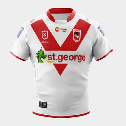 X Blades St George Illawarra Dragons 2020 NRL Home S/S Rugby Shirt