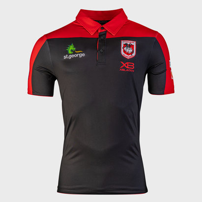 X Blades St George Illawarra Dragons 2020 NRL Players Rugby Polo Shirt