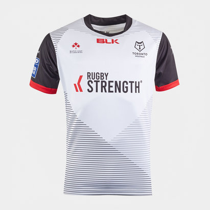 BLK Toronto Wolfpack 2020 Kids Home S/S Rugby League Shirt