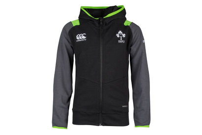 Canterbury Ireland IRFU 2017/18 Kids Full Zip Hooded Rugby Sweat
