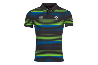 Canterbury Ireland IRFU 2017/18 Off Field Pique Rugby Polo Shirt