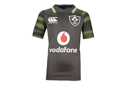 Canterbury Ireland IRFU 2017/18 Kids Alternate Pro S/S Replica Rugby Shirt