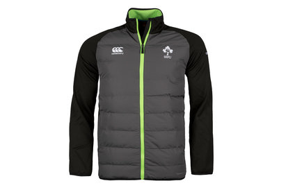 Canterbury Ireland IRFU 2017/18 Players Full Zip Hybrid Rugby Jacket