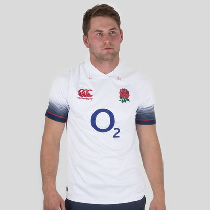 Canterbury England 2017/18 Home Pro S/S Rugby Shirt