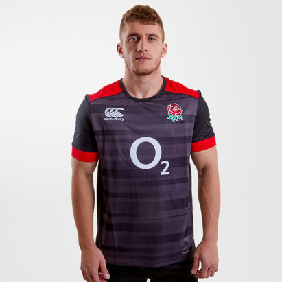 Canterbury England 2017/18 Players S/S Pro Rugby Training Shirt