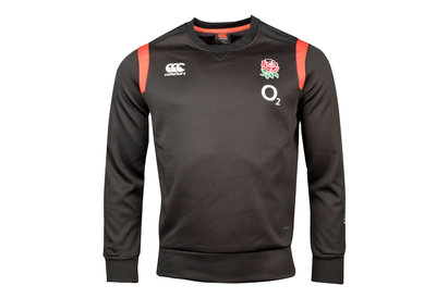 Canterbury England 2017/18 Players Tech Crew Rugby Top