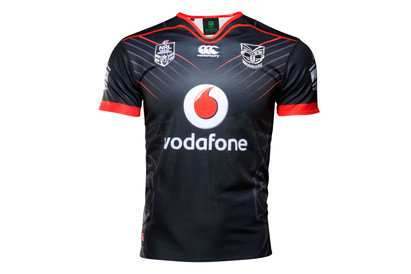 New Zealand Warriors NRL 2017 Home Youth SS Rugby Shirt