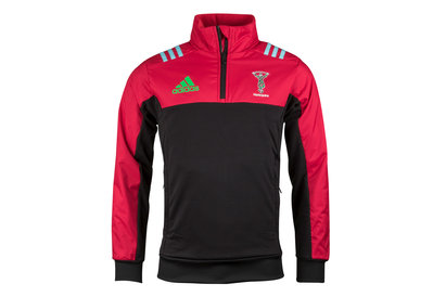 adidas Harlequins 2017/18 Players Fleece Rugby Jacket