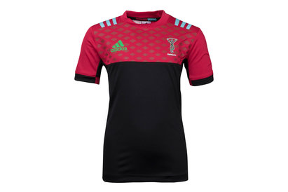 adidas Harlequins 2017/18 Kids Performance Rugby T-Shirt