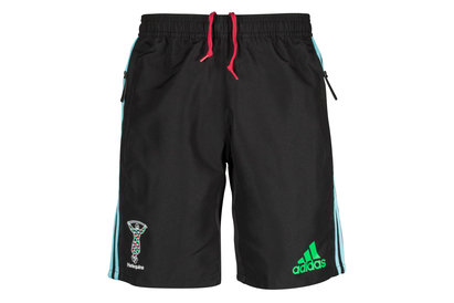 adidas Harlequins 2017/18 Players Woven Rugby Training Shorts