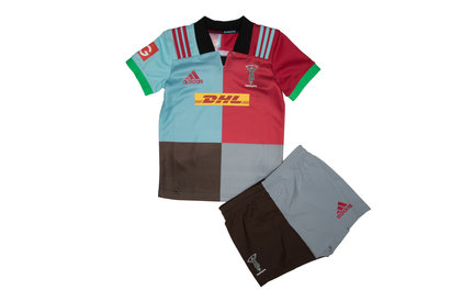 adidas Harlequins 2017/18 Kids Home Replica Rugby Kit