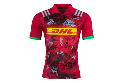 adidas Harlequins 2017/18 Alternate S/S Replica Rugby Shirt