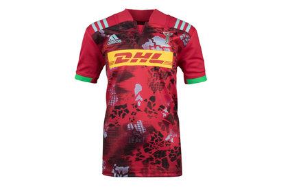 adidas Harlequins 2017/18 Kids Alternate S/S Replica Rugby Shirt