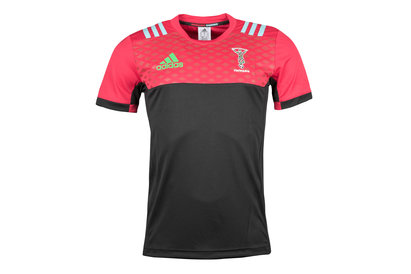 adidas Harlequins 2017/18 Players Performance Rugby T-Shirt