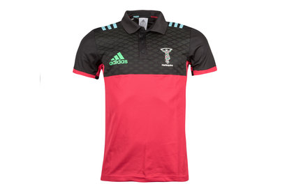 adidas Harlequins 2017/18 Players Performance Rugby Polo Shirt