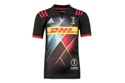 adidas Harlequins 2017/18 Kids 3rd S/S Replica Rugby Shirt